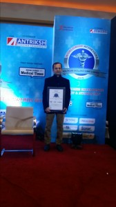 Receiving Best Urologist Award